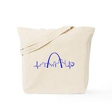 St. Louis Heartbeat (Heart) BLUE Tote Bag