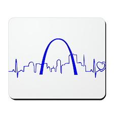 St. Louis Heartbeat (Heart) BLUE Mousepad
