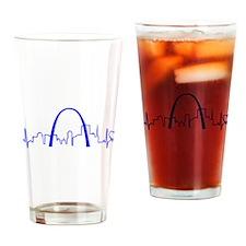 St. Louis Heartbeat (Heart) BLUE Drinking Glass