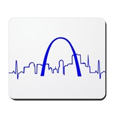 St. Louis Heartbeat BLUE Mousepad