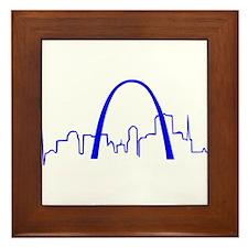 St. Louis Heartbeat BLUE Framed Tile