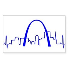 St. Louis Heartbeat BLUE Decal