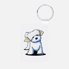 Havanese Aluminum Photo Keychain