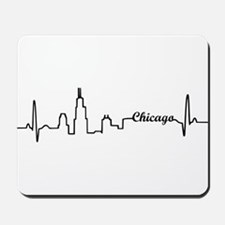 Chicago Heartbeat Letters Mousepad