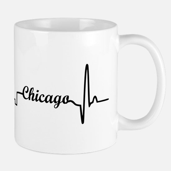 Chicago Heartbeat Letters Mug