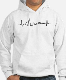 Chicago Heartbeat Letters Hoodie
