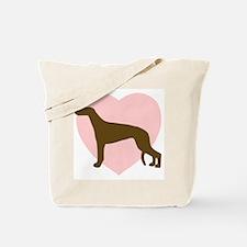 Greyhound Heart Tote Bag