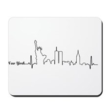 New York Heartbeat Letters Mousepad