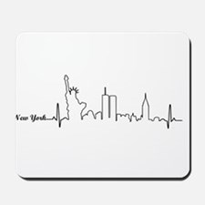 New York Heartbeat Letters Mousepad
