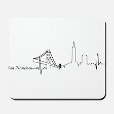 San Francisco Heartbeat Letters Mousepad