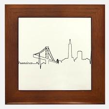 San Francisco Heartbeat Letters Framed Tile