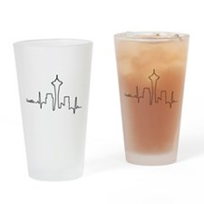 Seattle Heartbeat Letters Drinking Glass