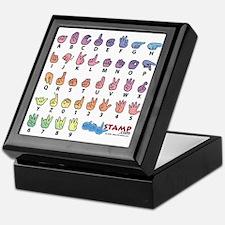 Pastel Fingerspelled ABC Keepsake Box