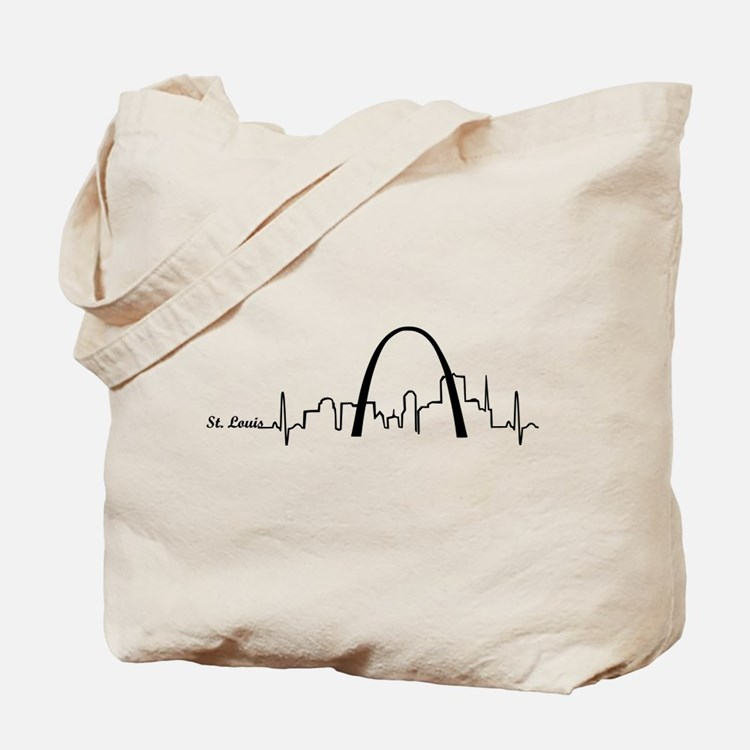St. Louis Heartbeat Letters Tote Bag