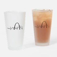 St. Louis Heartbeat Letters Drinking Glass
