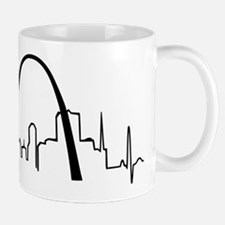 St. Louis Heartbeat Letters Mug