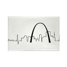 St. Louis Heartbeat Letters Rectangle Magnet