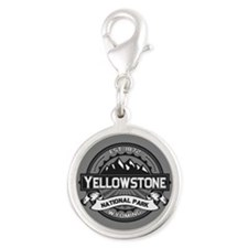Yellowstone Ansel Adams Silver Round Charm