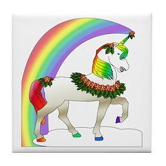 Rainbow Unicorn Tile Coaster