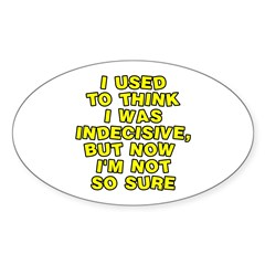 I used to think Sticker (Oval 10 pk)