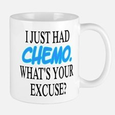 I Just Had CHEMO Blue Mug