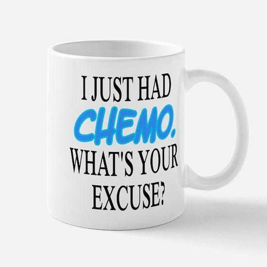 I Just Had CHEMO Blue Mug