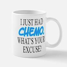 I Just Had CHEMO Blue Small Small Mug