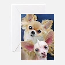 Chihuahuas- Munchie and Tuffy Greeting Cards (Pk o