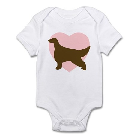 Irish Setter Heart Infant Bodysuit