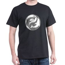 Grey And White Yin Yang Dolphins T-Shirt