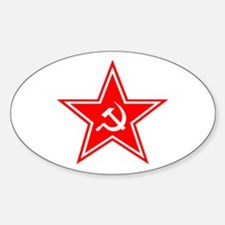 Red Soviet Oval Decal