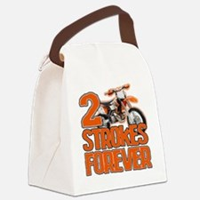 2 Strokes Forever Canvas Lunch Bag