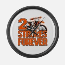 2 Strokes Forever Large Wall Clock