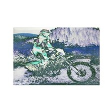 """Mountain Trail Riding"" Rectangle Magnet"