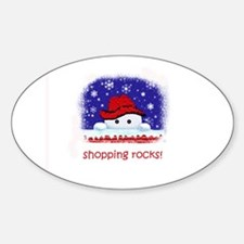 shopping rocks! Oval Decal