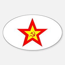 Soviet Star Oval Decal