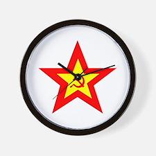 Soviet Star Wall Clock