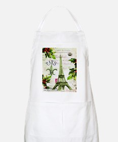 Vintage French Christmas in Paris Apron