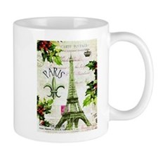 Vintage French Christmas in Paris Mug