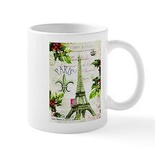 Vintage French Christmas in Paris Mug