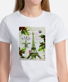 Vintage French Christmas in Paris T-Shirt
