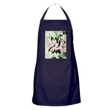 Vintage French Christmas amaryllis Apron (dark)