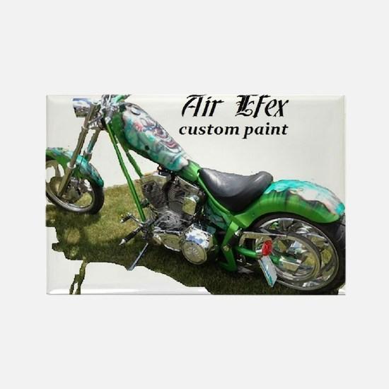 custom airbrushed Ironhorse chopper Rectangle Magn