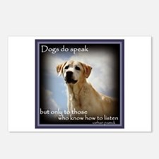 Dogs do Speak Postcards (Package of 8)