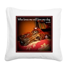 Love my dog Square Canvas Pillow