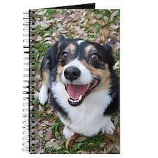 Corgi in Autumn Leaves Journal