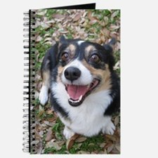 Corgi in Autumn Leaves Journal