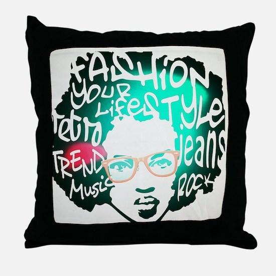 Melanic Fijian Swag Female Lite Bink Throw Pillow