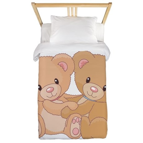 teddy bear twin duvet by lendk45e. Black Bedroom Furniture Sets. Home Design Ideas