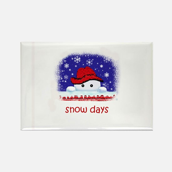 snow days Rectangle Magnet